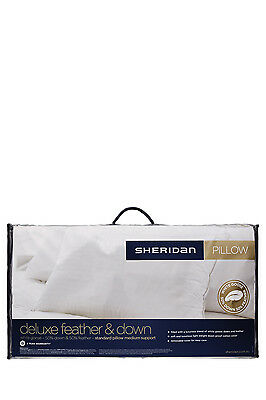 NEW Sheridan Deluxe 50/50 Goose Feather & Down Pillow