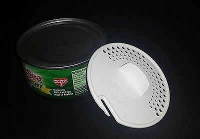 Gadjit Tuna Can Strainers strains liquids out of veggie cans Free Ship 2 pk