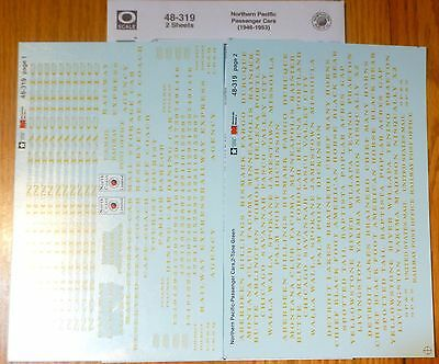 Microscale Decal O #48-319 Northern Pacific -- Passenger Cars (Original Two-Tone