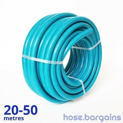 "Anti Kink Knitted Garden Hose 18mm - Reinforced UV Protected 3/4"" Water Hose"