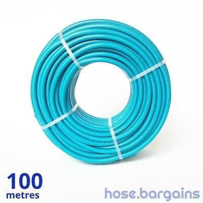 "Anti Kink Knitted Garden Hose 12mm x 100 metres - UV Protected 1/2"" Water Hose"
