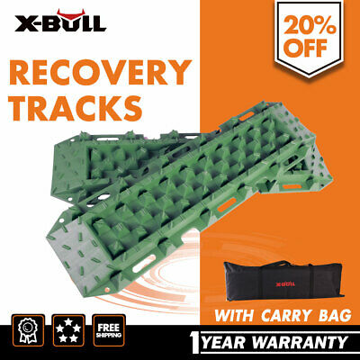 X-BULL Sand/Mud/Snow Recovery Tracks Olive-Green With Pair 4WD Offroad Carry Bag