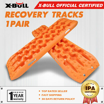 X-BULL Sand/Mud/Snow Recovery Tracks BLACK  Pair 4WD Offroad and Carry Bag