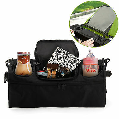 Pram Pushchair Stroller Cup Bottle Drink Food Tissue Holder Storage Bag Portable