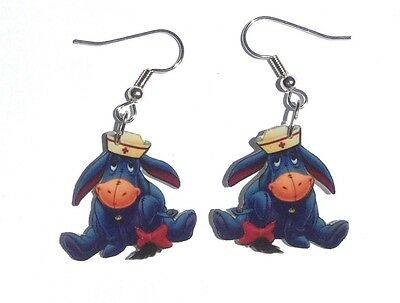 Eeyore Earrings Eeyore Nurse Charms