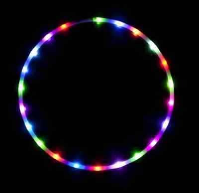 Color Change LED Hula Hoop Cotton Candy Rainbow Design Candle Decor Charge Unit