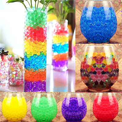 500pcs Magic Jelly Clear Crystal Mud Soil Water Beads Balls Gel Plant Flower Hot