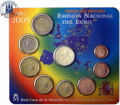 Spanien 5,88 Euro 2005 stgl. KMS 1 Cent bis 2 € & 2 Euro Don Quichote im Blister