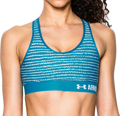 Under Armour Mid Armour Printed Ladies Sports Bra - Green