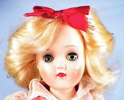 Ideal Toni Doll P-90 Hard Plastic Walker Blonde Hair Orig Clothes 14in Vintage