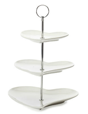NEW Maxwell & Williams White Basics Amore 3 Tier Cake Stand
