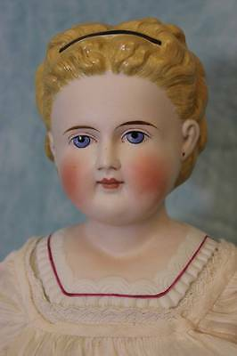 "Antique 21"" Molded Collar&Shirt Parian Child Doll by Simon & Halbig German c1880"