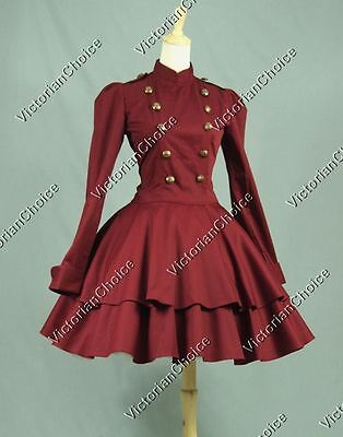 Victorian Lolita Military Coat Dress Theater Steampunk Cosplay Clothing C022