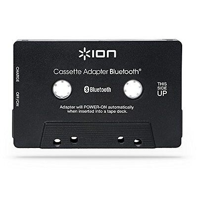 NEW Ion Audio Cassette Adapter Bluetooth Music Receiver for Cassette Decks - USB