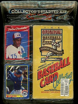 Baseball Cards Collector's Starter Kit - New 1988 VHS Video + 100 New Cards! DDT