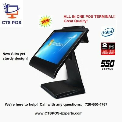 New! Stylish Salon POS System Point of Sale Beauty Shop w/ Software! Tablet Look