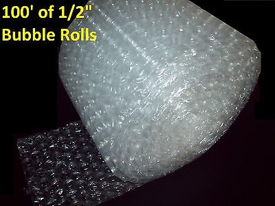 """100 Feet of Bubble Wrap® 12"""" Wide! 1/2"""" LARGE Bubbles! Perforated Every 12"""""""
