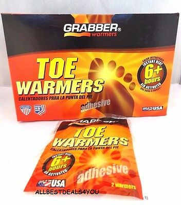 Grabber Toe Warmers 6+ Hours Air Activated #TWES 10 Pairs Adhesive Packs