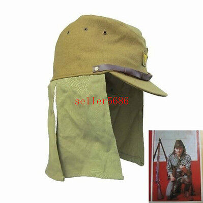 WWII Japanese army soldier hat cap with havelock