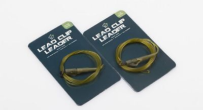Nash NEW Carp Fishing D-CAM Leader With Uni Ring Swivel Lead Clip & Tail Rubber
