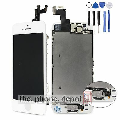 For iPhone 5S LCD Touch Screen Digitizer Display Home Button Camera Assembly UK