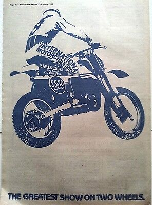 International Motorcycle Show (blue) 1980 Poster size Press ADVERT 16x12 inches