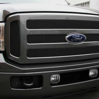 For Ford Excursion 2005 Grillcraft 6-Pc MX Series Black Fine Mesh Main Grille