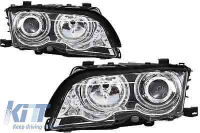 Faros Delanteros BMW 3ER E46 2D Coupe/Cabrio 98-03 Cromo Lamps Lights Angel Eyes