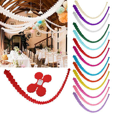 3M Star Paper Garland Banner Bunting Drop Baby Shower Wedding Party Decoration