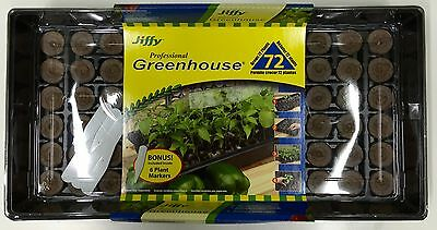 72 Cell Professional Greenhouse Seed Starter Kit by Jiffy J372 NEW IN BOX