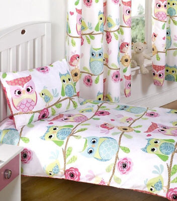 Girls Owl and Friends Toddler Bedding