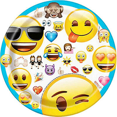 EMOJI LARGE PAPER PLATES 8 ~ Birthday Party Supplies iPhone Android Message