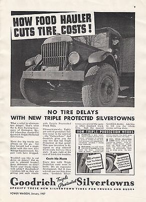 1937 Goodrich Silvertowns Truck Tires Ad: C Rice Packing Co Covington KY