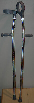 "PAIR Invacare Elbow Forearm Crutches 8153-A for 5'0""-6'2"" User up to 300lb NEW"