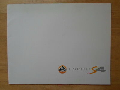 LOTUS ESPRIT S4 & SPORT 300 orig 1993 UK Mkt Large Format Sales Brochure