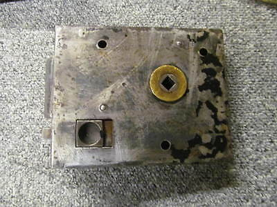 early reclaimed rim lock/latch mostly stripped of paint   -RL313-