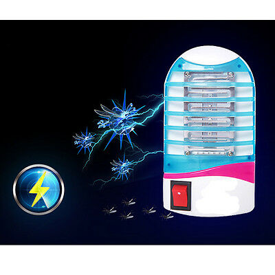 Home LED Electric Mosquito Fly Bug Insect Trap Night Lamp Killer Zapper US Plug