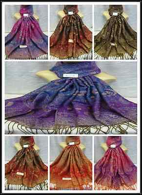 Wholesale 45Pcs $3.00 Each 2Ply Thick Metallic Reservible Pashmina Wrap Scarf