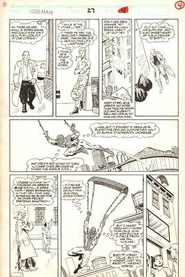 Spider-Man #27 p.4 - Spidey Web-Slinging - 1992 art by Marshall Rogers