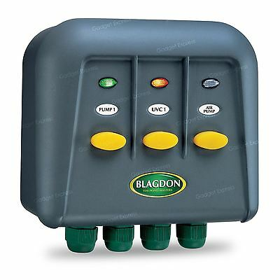 Blagdon Powersafe Switchbox 5 Outlet Garden Electrical Fish Pond Pump Safety