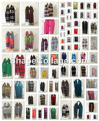 Wholesale 88Pcs $3.25 Each 100% Cashmere Made In Scotland Scarf Different Colors