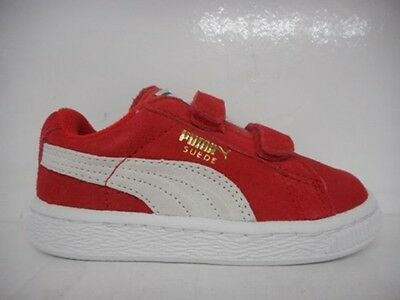 Puma Suede 2 Strap Kids Toddlers Running Shoe Red 356274-03 Select Size
