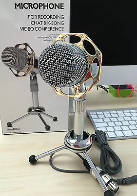 New Desktop Microphone MIC For PC Computer Laptop Mac karaoke Skype Msn Facebook