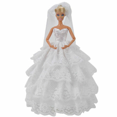 Princess Evening Wedding Party Clothes Wears Dress Outfit For Barbie Doll Gift