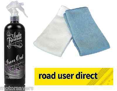 Auto Finesse Iron Out Fallout Remover 500ml  & 2 Cloths - Free Tracked Courier