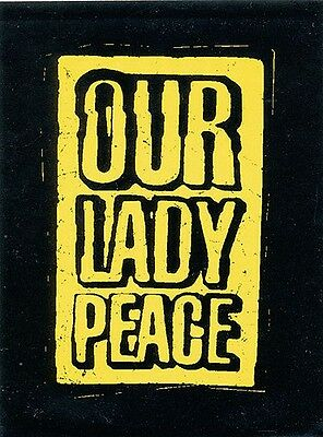 Our Lady Peace Clumsy RARE promo sticker '97