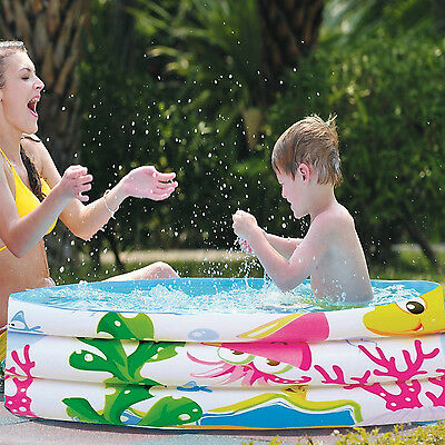 Kids Paddling Inflatable Pool Outdoor Sea Ocean World Swimming Ring Round Family