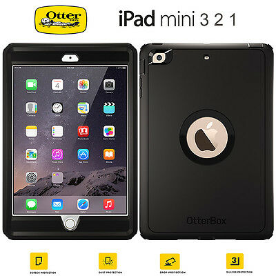 For Apple iPad Mini 3 2 1 Genuine Otterbox Defender Shockproof Stand Case Cover