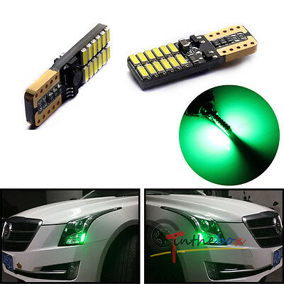 2PCS CAN-bus Green LED 24-SMD Front Sidemarker Lights For 2013-2016 CADILLAC ATS
