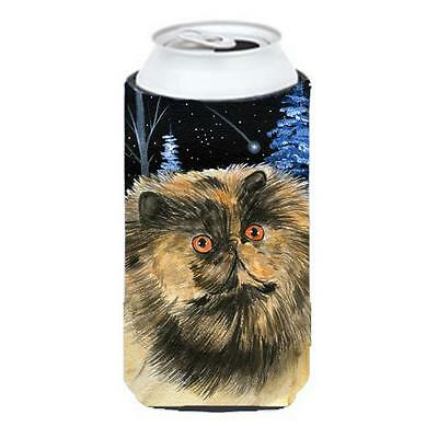 Carolines Treasures Starry Night Cat Persian Tall Boy bottle sleeve Hugger